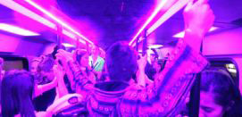 School Ball Party Bus Hire - Party Lighting