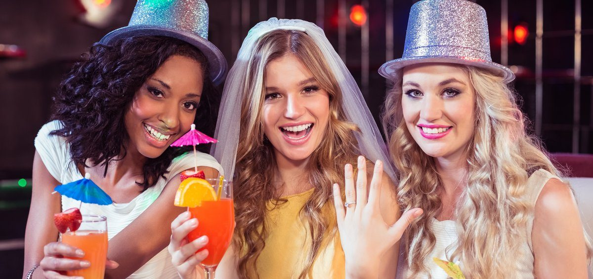 Girls celebrating bachelorette party