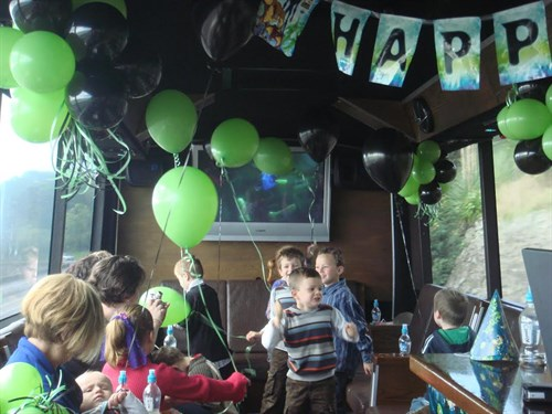 Kids On Ultimate Party Bus
